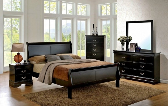 Dark wood bedroom set at Above & Beyond Furniture Super Store